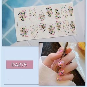 Confetti dot nail wraps